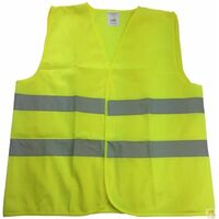 Hi Vis Safety VEST Reflective Tape Workwear Yellow ONE SIZE Night & Day Use New