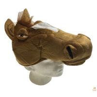 HORSE HEAD HAT Plush Halloween Animal Cap Fancy Dress Party Accessory New