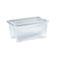 Italplast Storage Box with Lid Container Organiser Stackable - 5 Litre