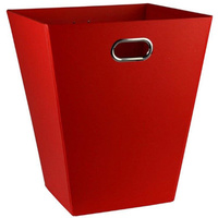 EAZI FOLD 12 Litre Waste Tidy Rubbish Bin Office Foldable Recyclable I537 RED