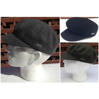 KANGOL Wool Mau Cap 6260BC Military Army Style Hat Warm Winter Seamles 48e13e6f6af1