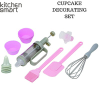 16pcs KITCHEN SMART Complete Cupcake Cake Decorating Set Kit