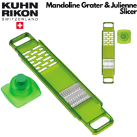 KUHN RIKON Mandoline Grater & Julienne Slicer Chopper Vegetables Carrot Ginger