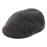 Laulhère Hats Merino Wool Flat Cap Beret Made In France - Charcoal