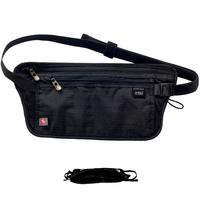 Lewis N. Clark RFID-Blocking Waist Travel Money Belt Stash - Black