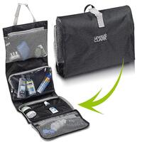 Lewis N. Clark Hanging Toiletry Bag Kit Case Travel Cosmetic Storage Organizer  - Black