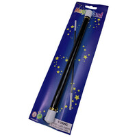 30cm Long Black MAGIC WAND Magicians Wizard Costume Prop Party Accessory