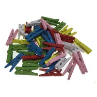 600pcs MINI WOODEN PEGS Natural Craft Baby Shower Clothes Pin Scrapbook 25mm