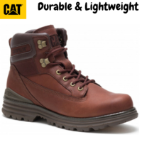 Caterpillar Men's Baseplate Boots CAT Brun Force Leather Shoes - Gingerbread
