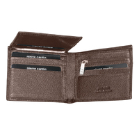 Pierre Cardin Men's Wallet RFID Blocking Genuine Italian Leather - Brown