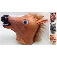 Animal Head Face Mask Halloween Latex Rubber Costume Party Horse Tiger Lion Wolf