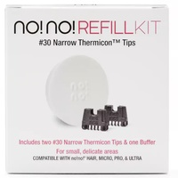 no!no! #30 Narrow Thermicon Tips Refill Kit Hair Removal Remover w Buffer No No