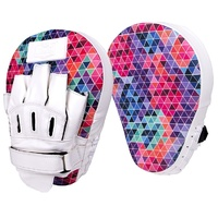 Red Corner Women's Boxing Gloves Silver Label Focus Pads Mosaic 2.0