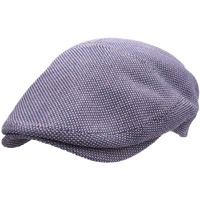 Herman Men's Made In Italy Flat Cap Ivy Pure Mulberry - Navy