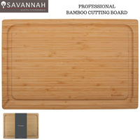 SAVANNAH Heavy Duty Professional Bamboo Cutting Board Reversible 45x30cm