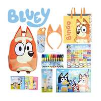 Bluey Bingo Showbag Backpack Drink Bottle Projector Torch Markers And More