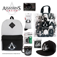 Assassin's Creed Kids Showbag w Backpack Cap Show Bag Mug Socks Wallet Tote Bag