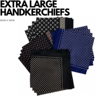 12x Seward EXTRA LARGE HANDKERCHIEFS 100% Cotton Everyday Square Hankies Hanky