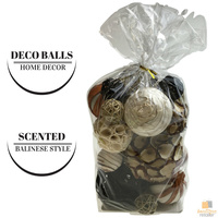 Set of Scented DECO BALLS Bali Home Decor Rattan Cane Wicker Balinese Style New