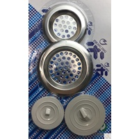 4pcs Stainless Steel KITCHEN SINK STRAINERS & Bath Sink Plugs Laundry Drain New