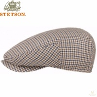 STETSON Linen/Cotton Flat Ivy Cap Driver Hat 6243201 MADE IN GERMANY New
