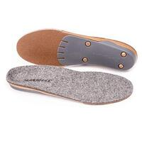 SUPERFEET Merino Wool Insoles Inserts Orthotics Arch Support Cushion - Grey