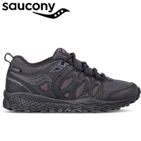 Saucony Youth Boys SY-B Peregrine Shield Water Resistant Shoes Runners Sneakers - Black