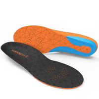 SUPERFEET FLEX Insoles Inserts Orthotics Arch Support Cushion ORANGE Support New