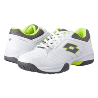 Lotto Men's Court Tennis Shoes Logo T-TOUR 600 X All Court Sneakers - White/Yellow