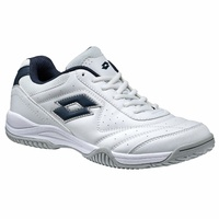 Lotto Men's Court Logo XVI Tennis Shoes All Court Sneakers Trainers - White/Navy