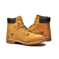 "TIMBERLAND Men's 6"" Premium Waterproof Boots Original Yellow Shoes - Wheat Nubuck"