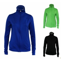 Women's Active Stretch Jacket Full Zip Gym Workout Casual w Pockets
