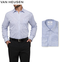 Van Heusen Classic Relaxed Fit Shirt Multi Window Check - Blue Check