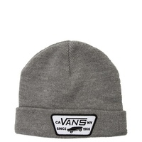 VANS Milford Beanie Warm Winter Knit Hat Ski Cap - Heather Grey