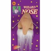 WIZARD NOSE with Moustache Latex Elf Old Man Merlin Costume Halloween Party Ogre