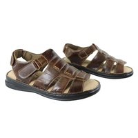 WOODLANDS Chester Men's Leather Cushioned Sandals Adjustable Comfort