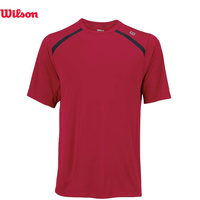 WILSON Men's Color Inset Crew Tennis Top Tee Sports - Formula One