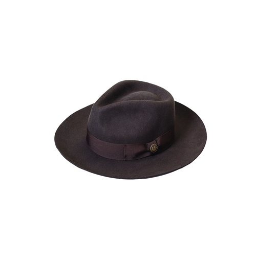 cd4fc1b76d912 Goorin Brothers Men s The Bookie 100% Wool Fedora Trilby Felt Hat